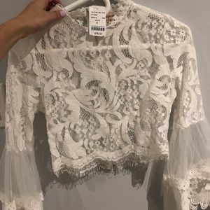 Lace fancy crop top from m boutique!